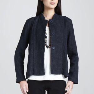 Eileen Fisher cotton and linen tweed jacket
